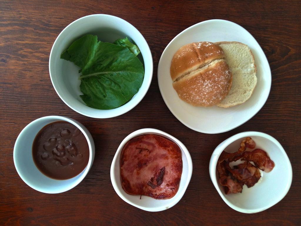 ingredientes para el sandwich