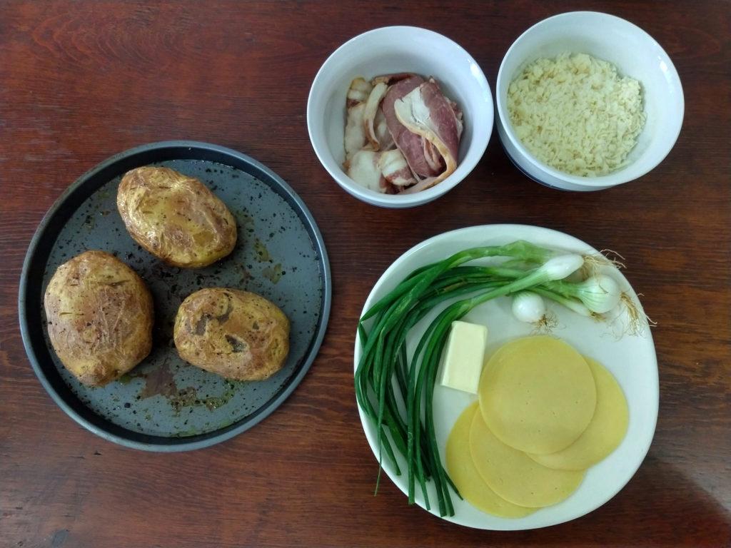 ingredientes para las papas al horno