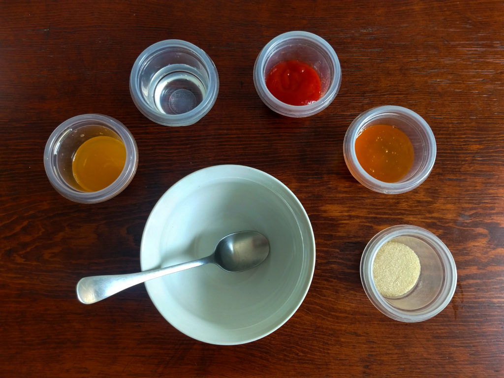 ingredientes salsa para las piernas