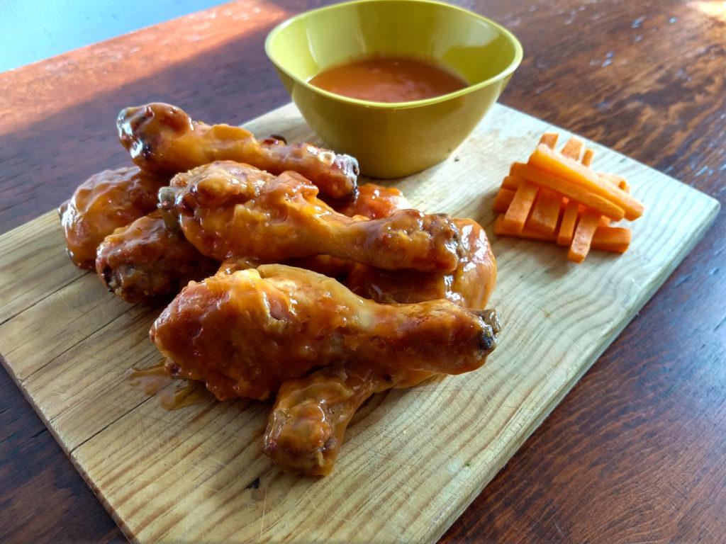 piernas de pollo crujientes a la naranja