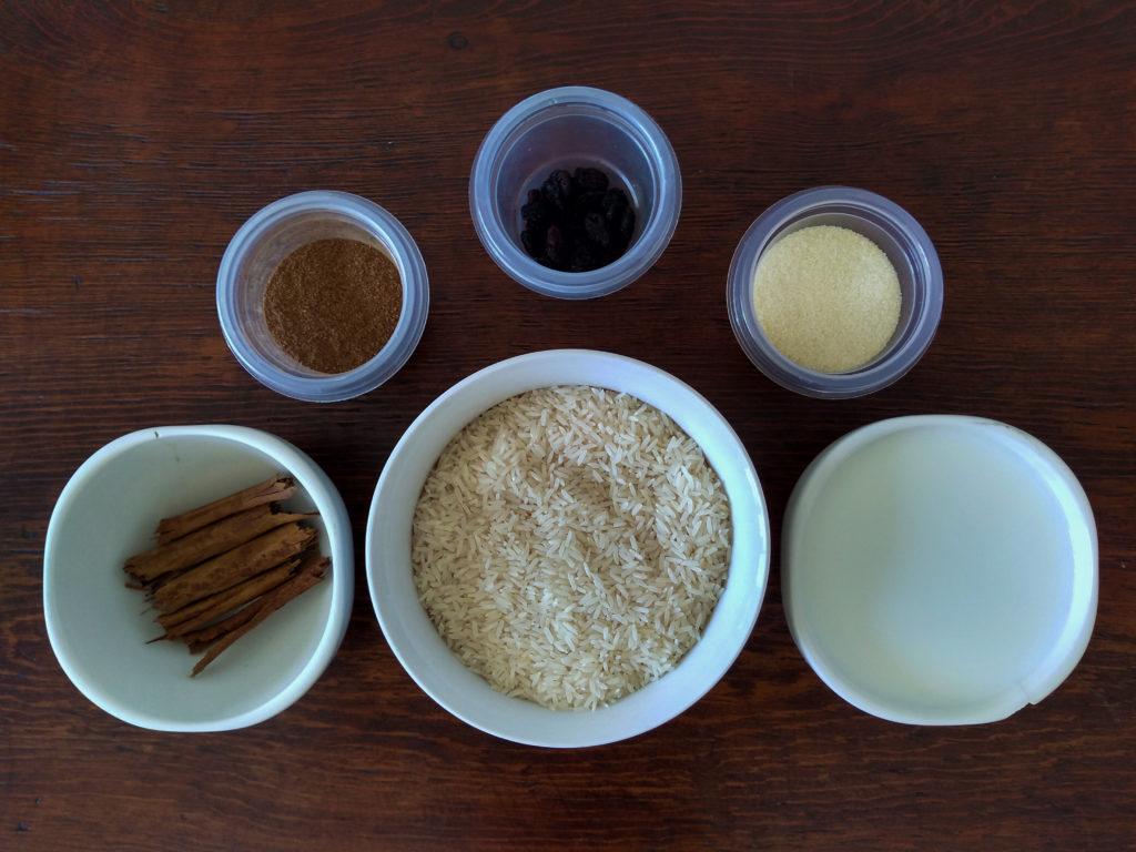 ingredientes arroz con leche