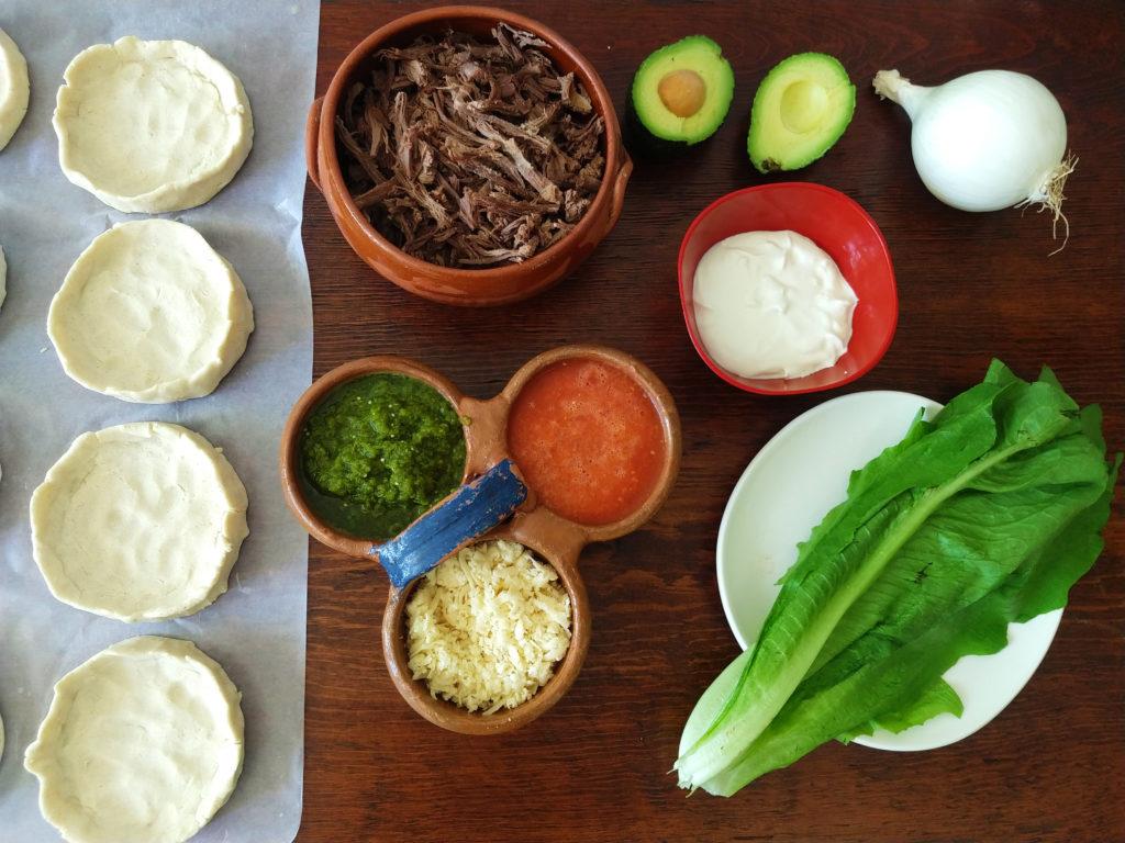 ingredientes para los sopes