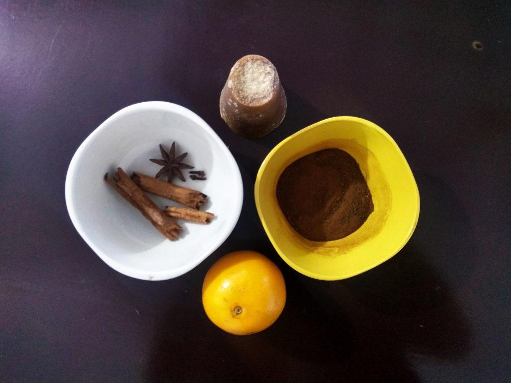 ingredientes para el café de olla
