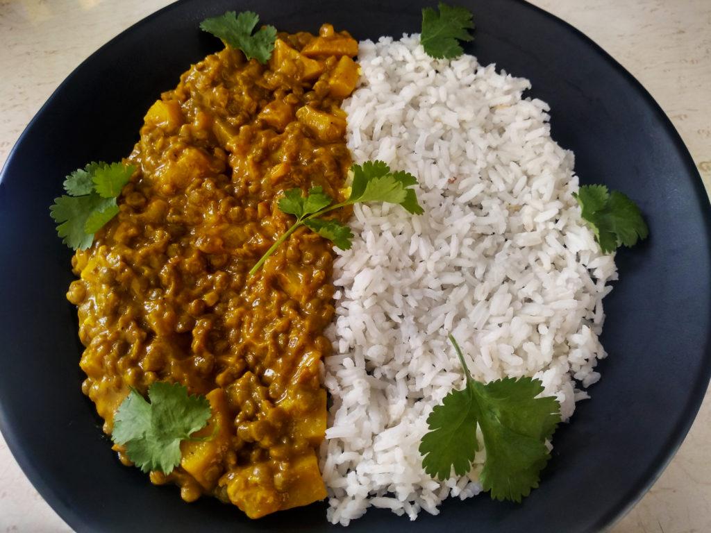 curry de lentejas