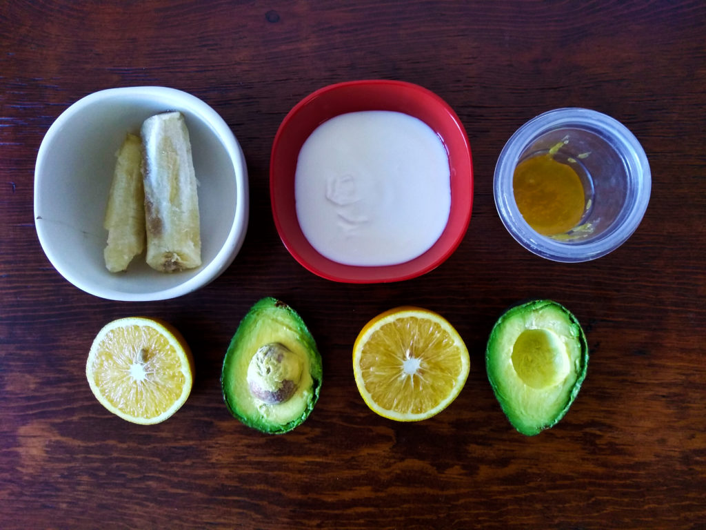 ingredientes smoothie de aguacate