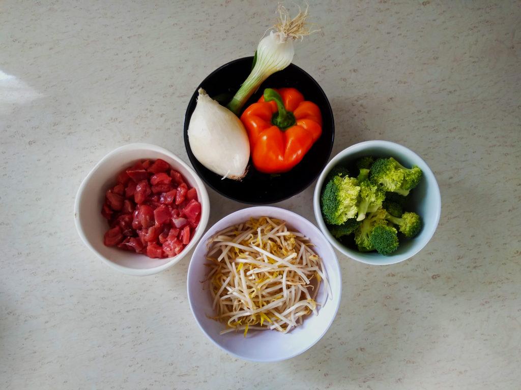 ingredientes para el salteado de verduras