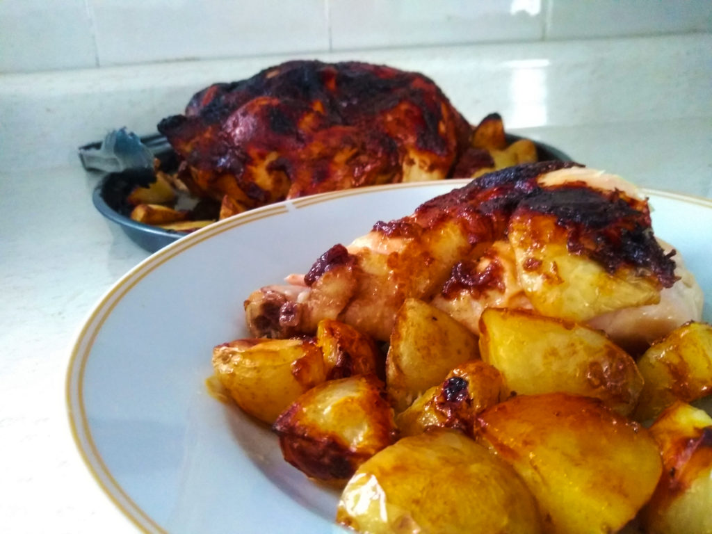 pollo con salsa bbq