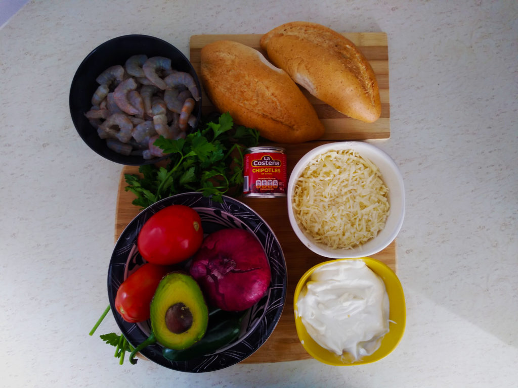 ingredientes torta de camarón