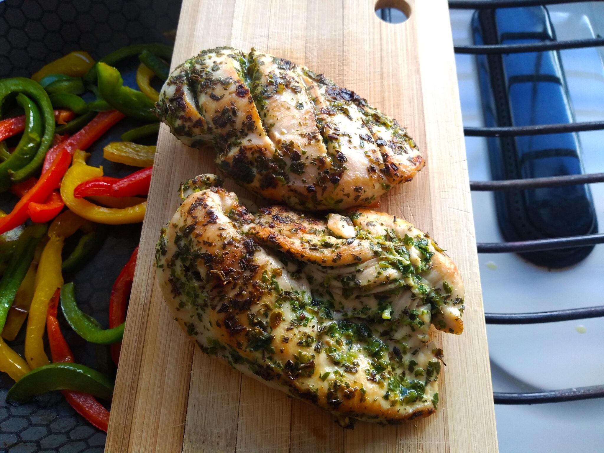 wraps de pollo a las finas hierbas