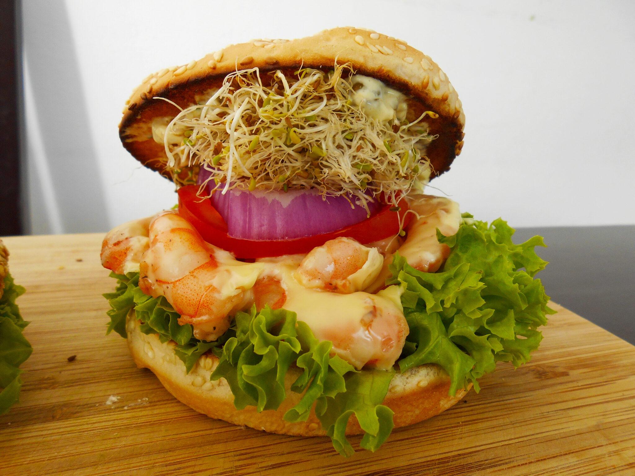 hamburguesas de camarón
